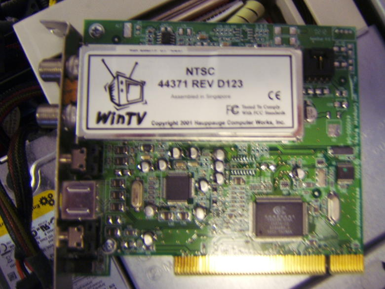 Blurry Photo of a Hauppage bt848 Card